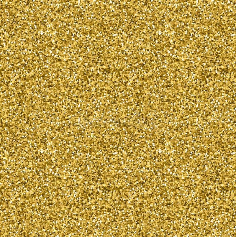 Teste padrão sem emenda da textura dourada do brilho no estilo do ouro Projeto do vetor imagem de stock