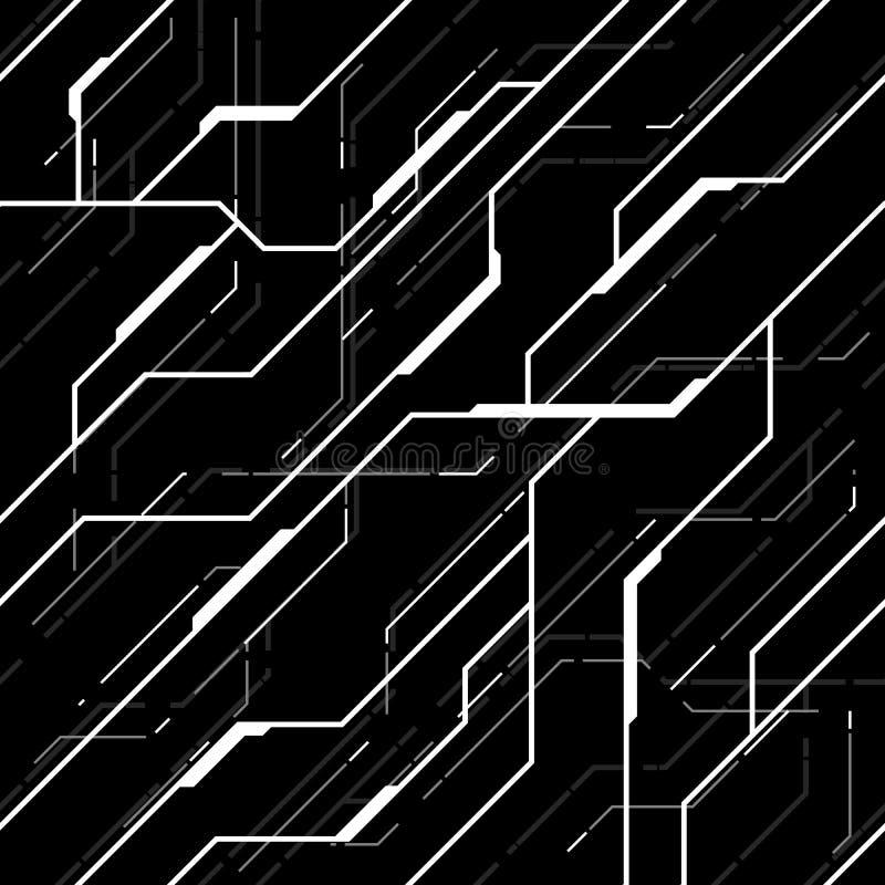 Teste padrão sem emenda da textura futurista do vetor fotografia de stock