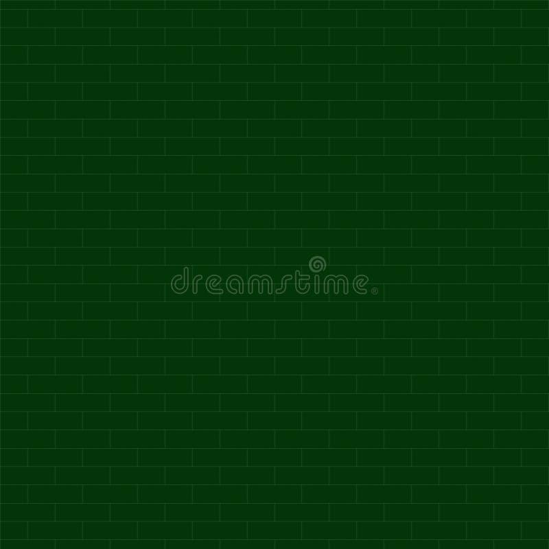 Teste padrão sem emenda da textura verde da parede de tijolo, fundo abstrato, ilustração royalty free