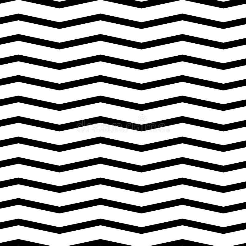Teste padrão sem emenda da viga Fundo monocromático, preto e branco do ziguezague foto de stock royalty free