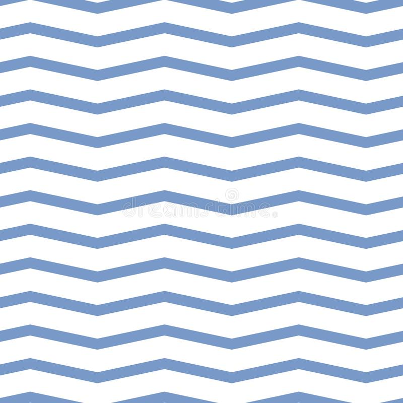 Teste padrão sem emenda da viga Ziguezague azul colorido no fundo branco fotos de stock royalty free