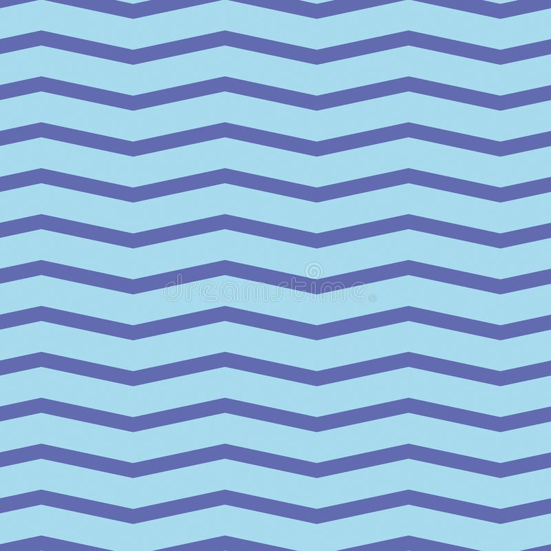 Teste padrão sem emenda da viga Ziguezague roxo colorido na luz - fundo azul imagem de stock royalty free