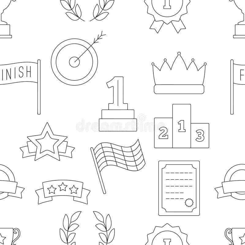 Teste padrão sem emenda da vitória ilustração stock