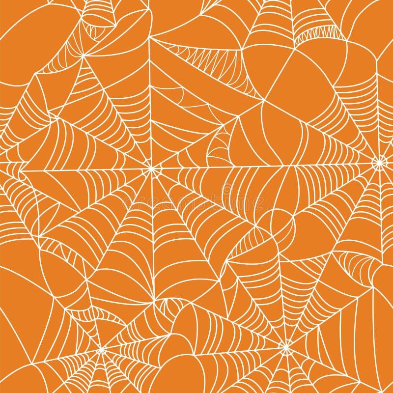 Teste padrão sem emenda da Web de aranha de Dia das Bruxas ilustração royalty free
