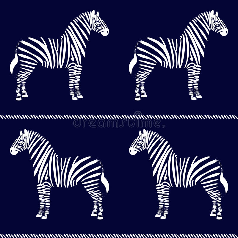 Teste padrão sem emenda da zebra ilustração do vetor