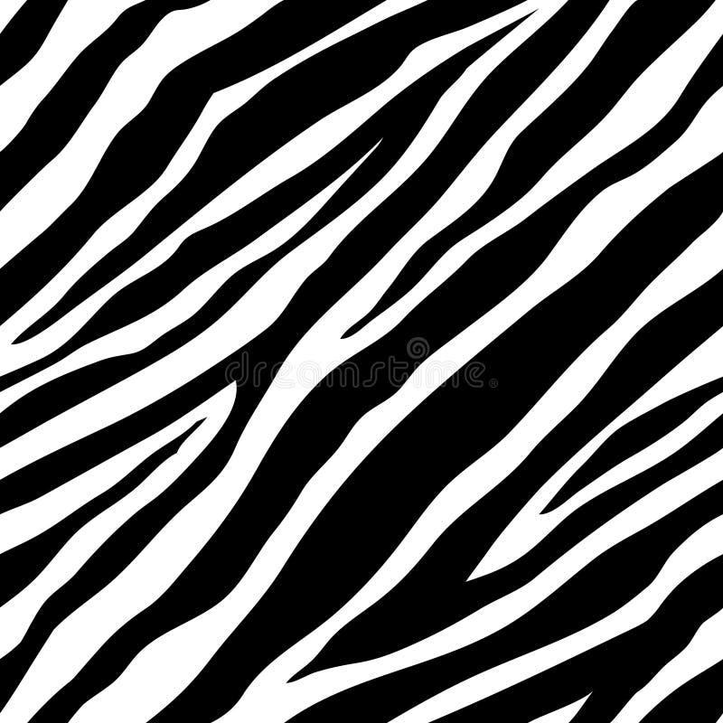 Teste padrão sem emenda da zebra ilustração stock