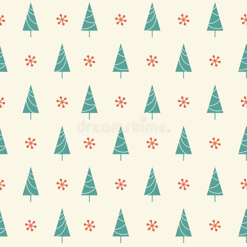 Teste padrão sem emenda das árvores de Natal ilustração do vetor