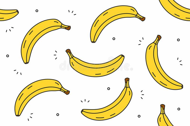 Teste padrão sem emenda das bananas ilustração royalty free