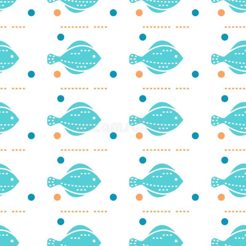 Teste padrão sem emenda das criaturas do mar ilustração royalty free