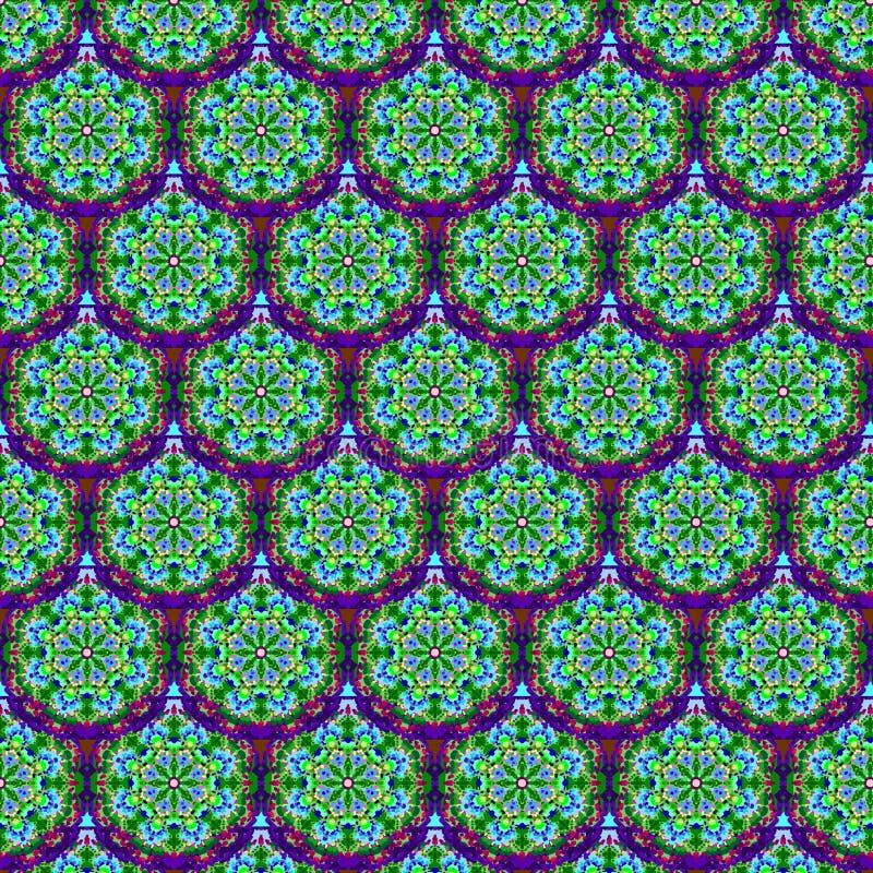 Teste padrão sem emenda das escalas calidoscópicos ilustração stock
