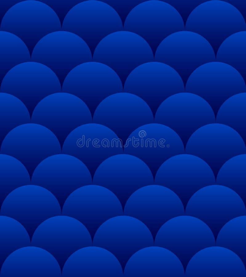 Teste padrão sem emenda das esferas azuis ilustração do vetor