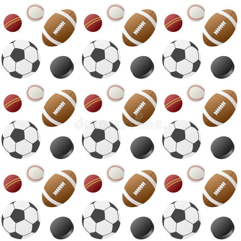 Teste padrão sem emenda das esferas do esporte [1] ilustração do vetor