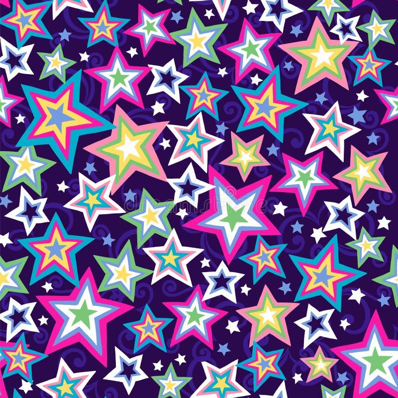 Teste padrão sem emenda das estrelas ilustração stock