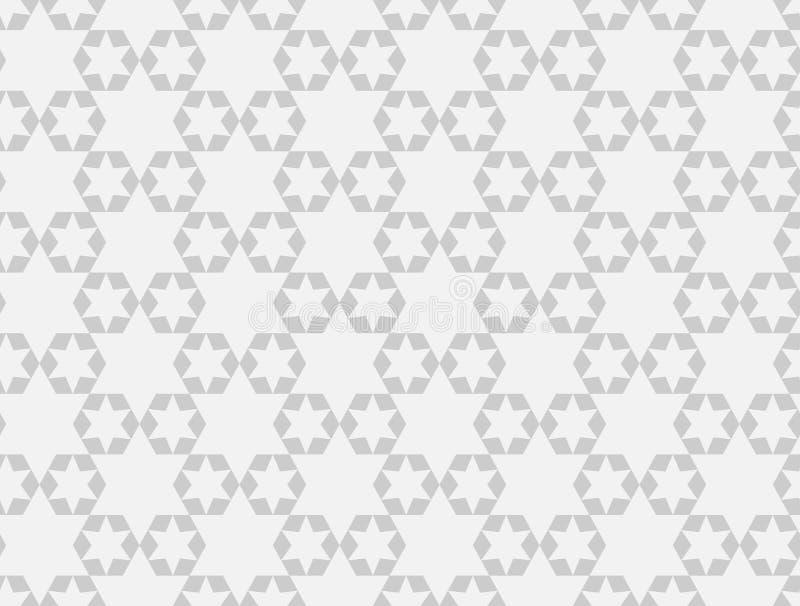 teste padrão sem emenda das estrelas geométricas Projeto gráfico da forma Ilustração do vetor Projeto do fundo Bakground asiático ilustração royalty free