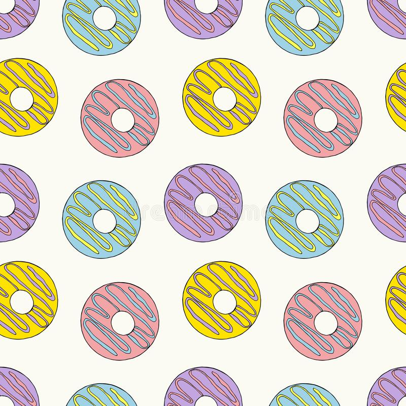 Teste padrão sem emenda das filhóses Ilustração brilhante dos desenhos animados para o projeto de cartão do ` s das crianças, o m ilustração do vetor