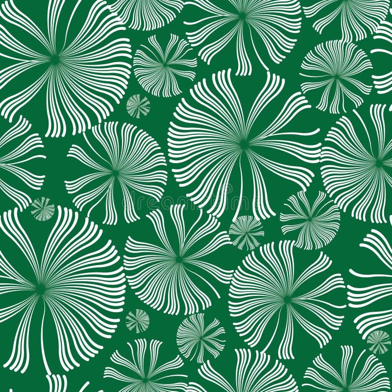 Teste padrão sem emenda das flores brancas dos dentes-de-leão ilustração royalty free