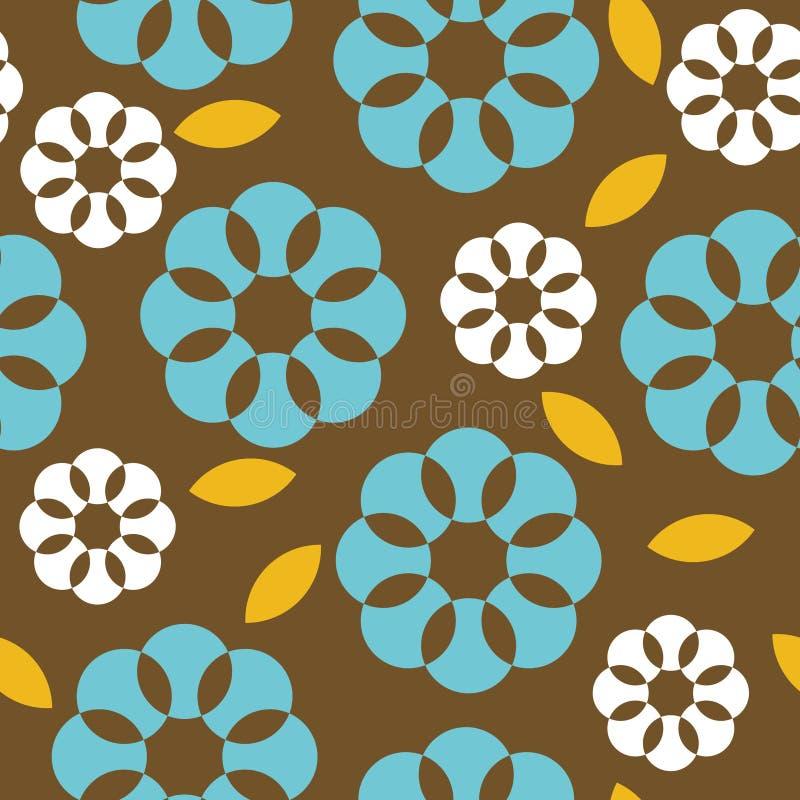 Teste padrão sem emenda das flores retros ilustração do vetor