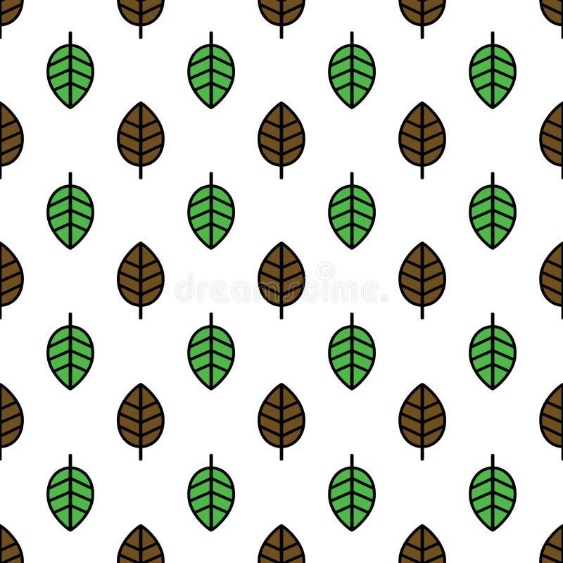 Teste padrão sem emenda das folhas fotografia de stock