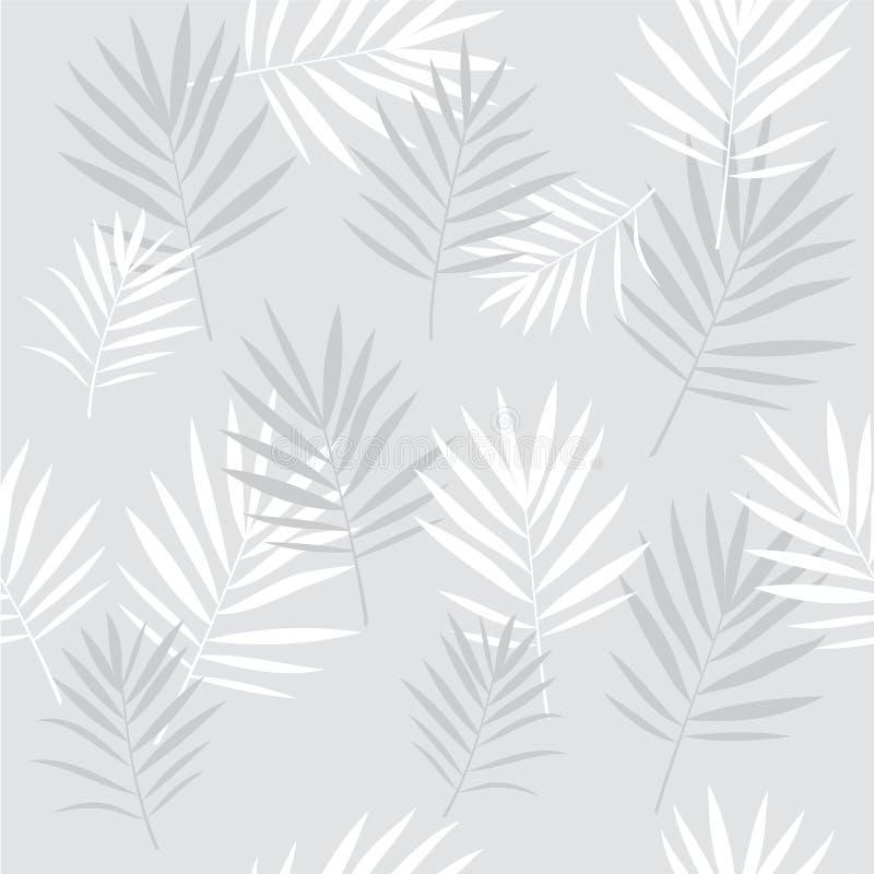 Teste padrão sem emenda das folhas de palmeira tropicais ilustração do vetor
