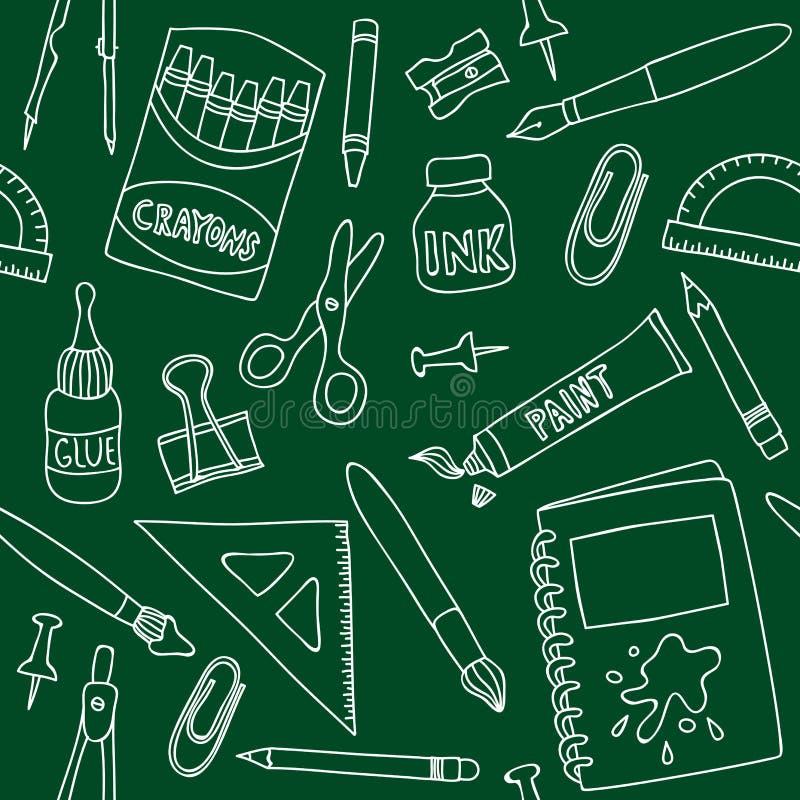 Teste padrão sem emenda das fontes de escola ilustração royalty free