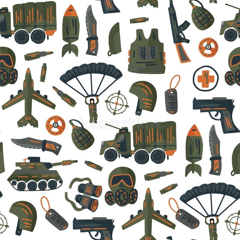 Teste padrão sem emenda das forças armadas e do vetor do exército ilustração royalty free