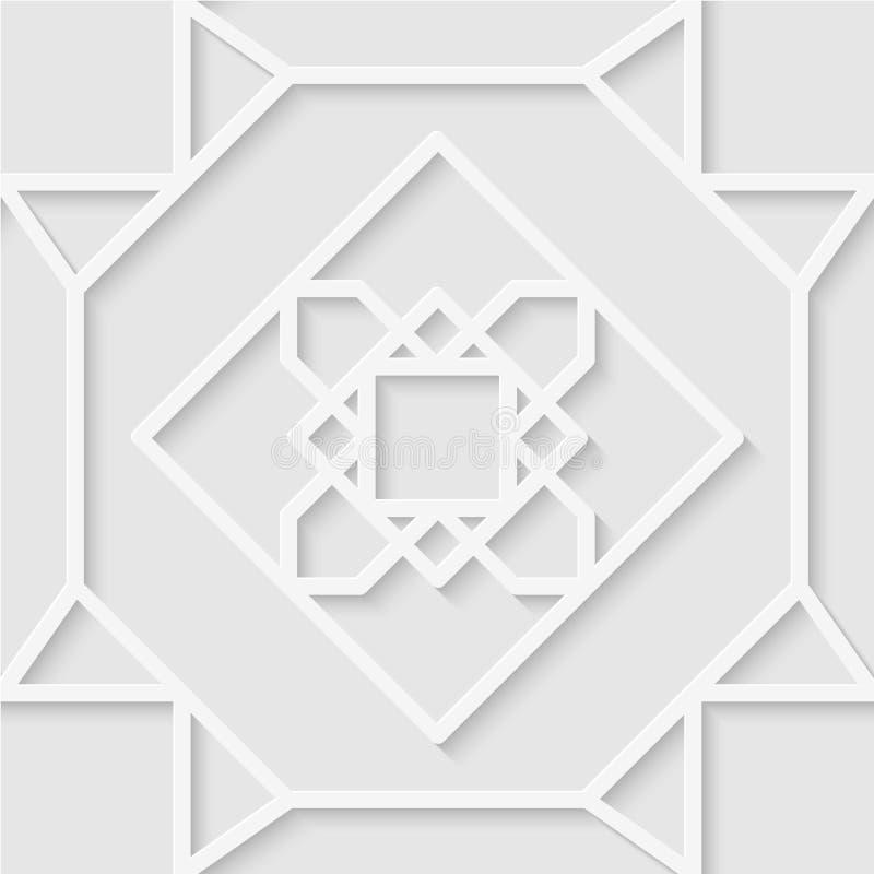 Teste padrão sem emenda das linhas Ornamento bonito Wallpap geométrico fotografia de stock royalty free