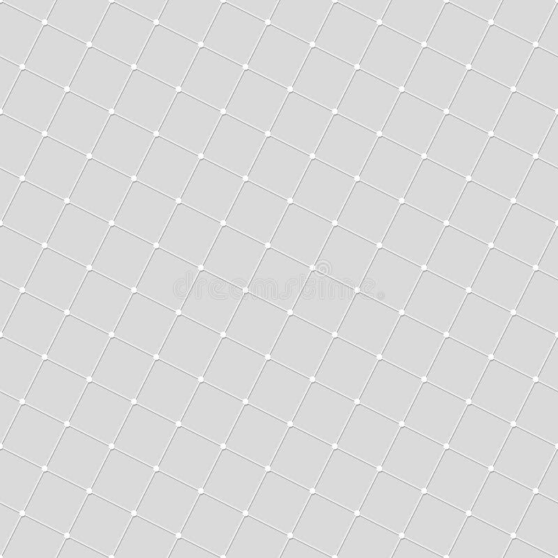 Teste padrão sem emenda das linhas quadrados e pontos Papel de parede geométrico ilustração royalty free