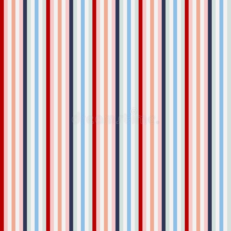Teste padrão sem emenda das listras do estilo retro da cor dos EUA Vetor abstrato ilustração royalty free