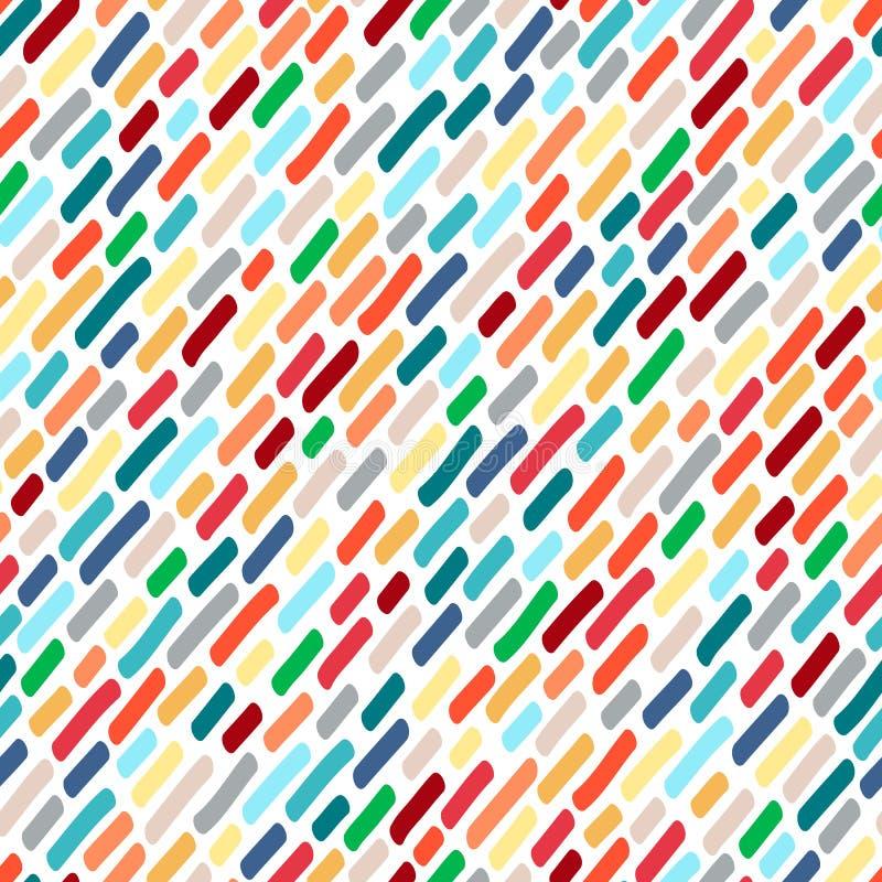 Teste padrão sem emenda das manchas multi-coloridas ilustração stock