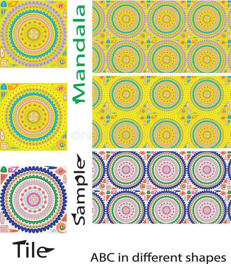 Teste padrão sem emenda das mandalas Elementos decorativos do vintage com mand ilustração do vetor
