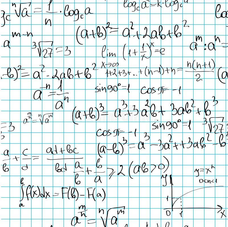 Teste padrão sem emenda das matemáticas ilustração royalty free