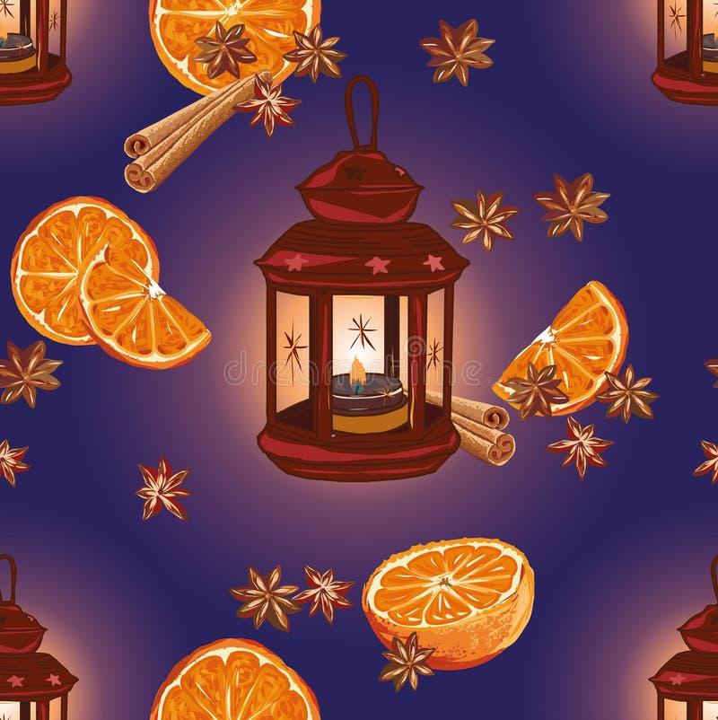 Teste padrão sem emenda das noites felizes do Natal, arquivo EPS10 ilustração stock
