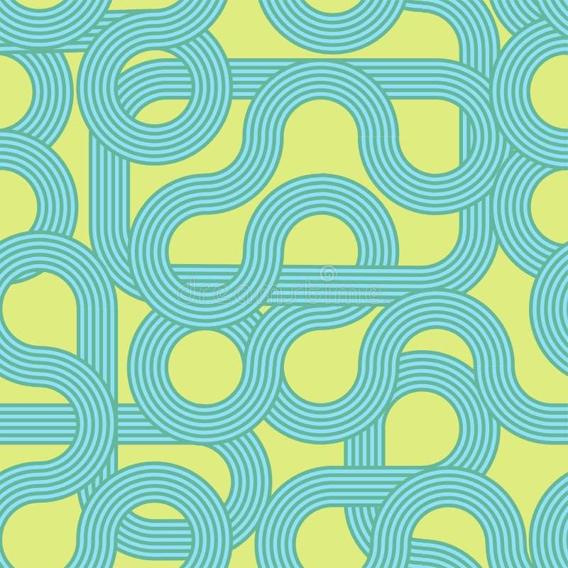 teste padrão sem emenda das ondas listradas Fundo moderno Ornamento abstrato na moda do PNF Projeto de Minimalistic ilustração do vetor