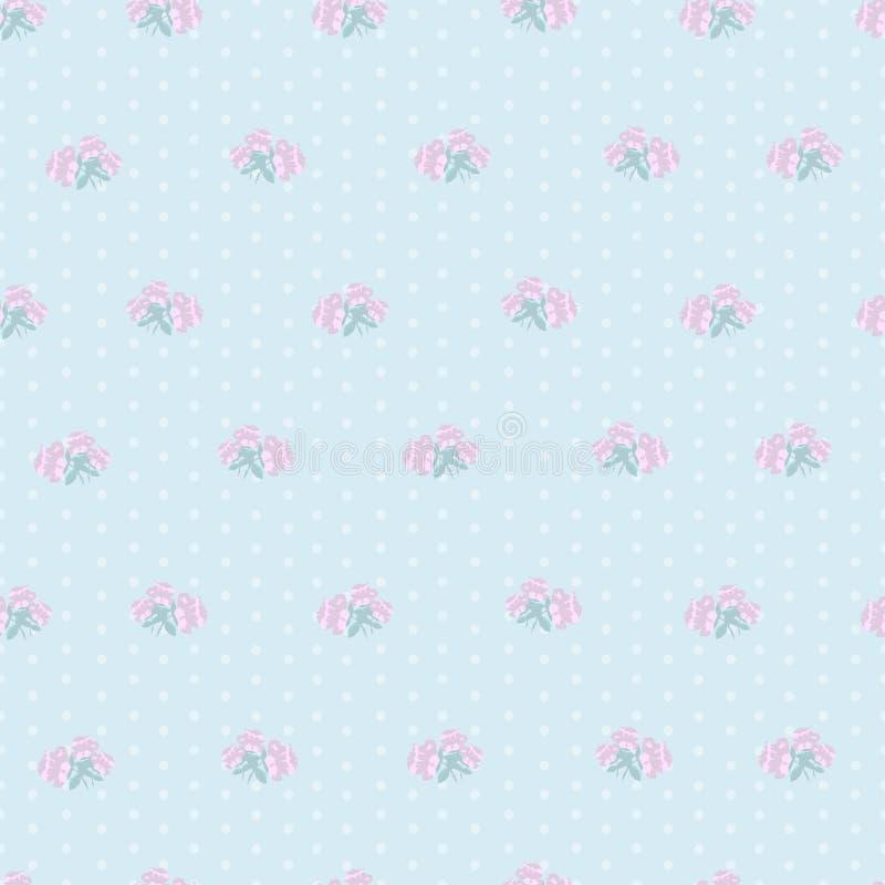 Teste padrão sem emenda das rosas pequenas ilustração royalty free