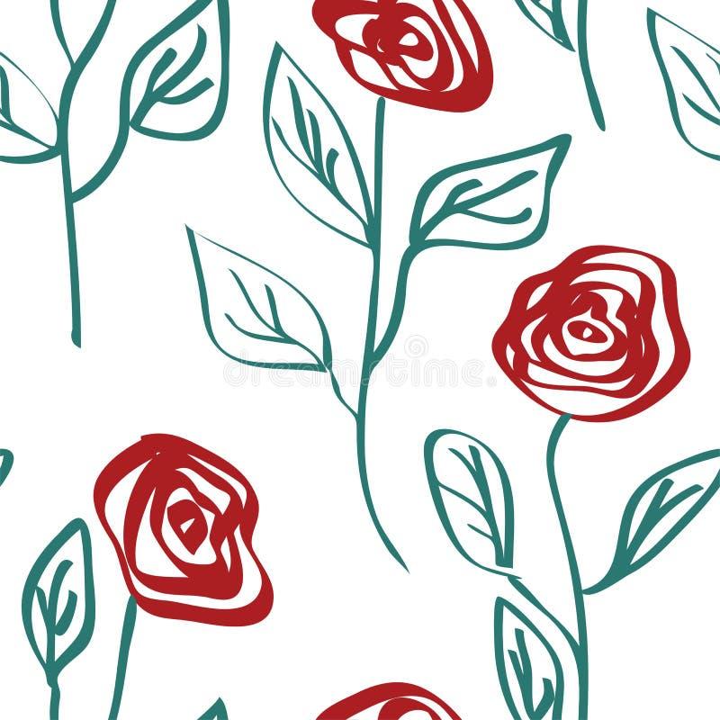 Teste padrão sem emenda das rosas Vetor floral eps 10 do fundo do vetor ilustração do vetor