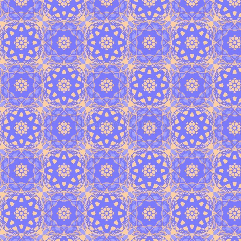 Teste padrão sem emenda das telhas calidoscópicos ilustração royalty free
