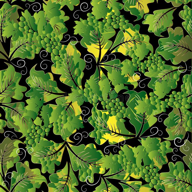 Teste padrão sem emenda das uvas 3d florais Wa abstrato do fundo do vetor ilustração royalty free