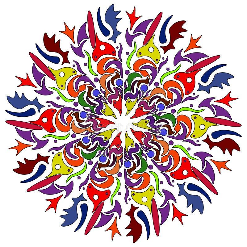 Teste padrão sem emenda de Boêmia da arte tribal Cópia geométrica étnica Textura de repetição colorida do fundo Tela, projeto de  fotografia de stock
