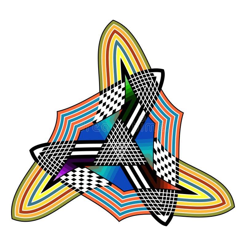 Teste padrão sem emenda de Boêmia da arte tribal Cópia geométrica étnica Textura de repetição colorida do fundo Tela, projeto de  foto de stock