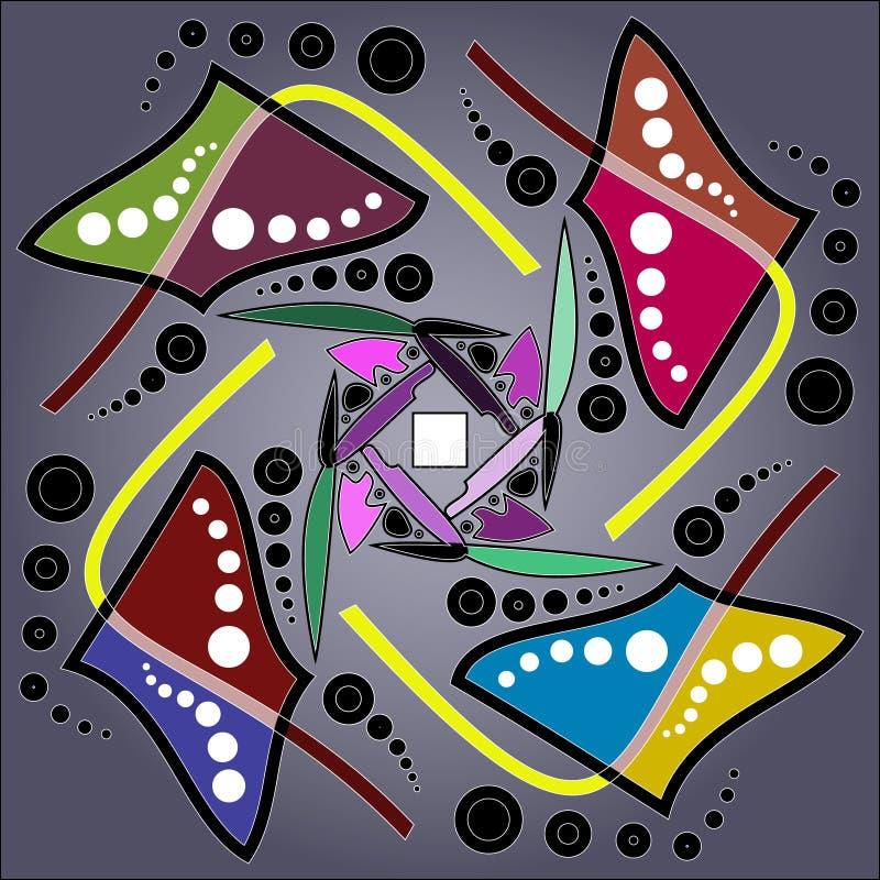 Teste padrão sem emenda de Boêmia da arte tribal Cópia geométrica étnica Textura de repetição colorida do fundo Tela, projeto de  imagem de stock royalty free