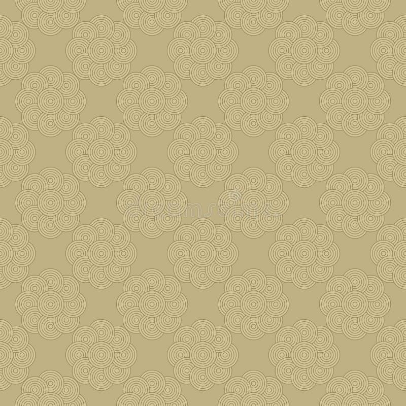 Teste padrão sem emenda de círculos abstratos ilustração stock