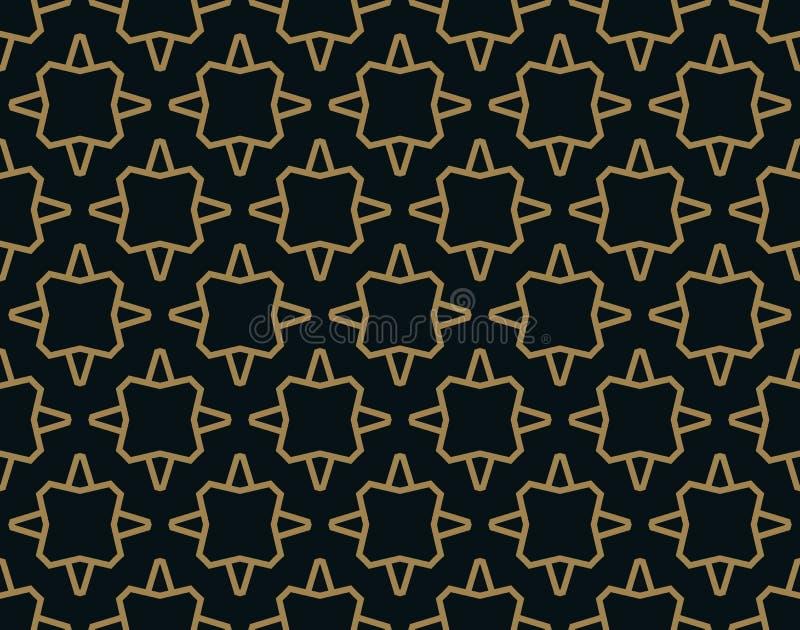 Teste padrão sem emenda de cruzar linhas cinzentas finas no fundo branco Ornamento sem emenda abstrato ilustração stock
