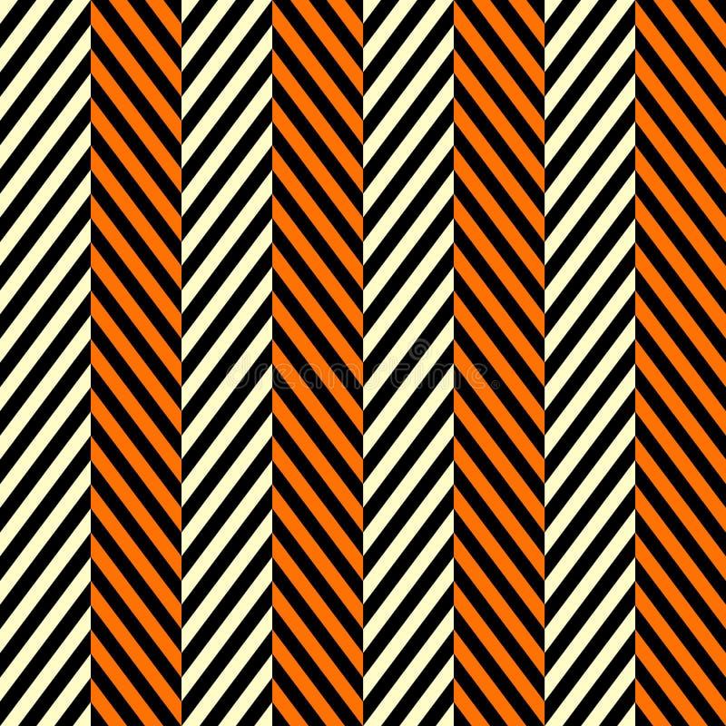 Teste padrão sem emenda de desenhos em espinha em cores tradicionais de Dia das Bruxas A cor obstrui o sumário do mosaico no fund ilustração royalty free