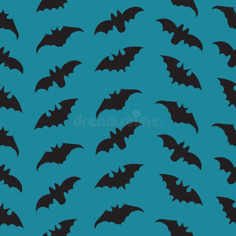 Teste padrão sem emenda de Dia das Bruxas com bastões ilustração royalty free