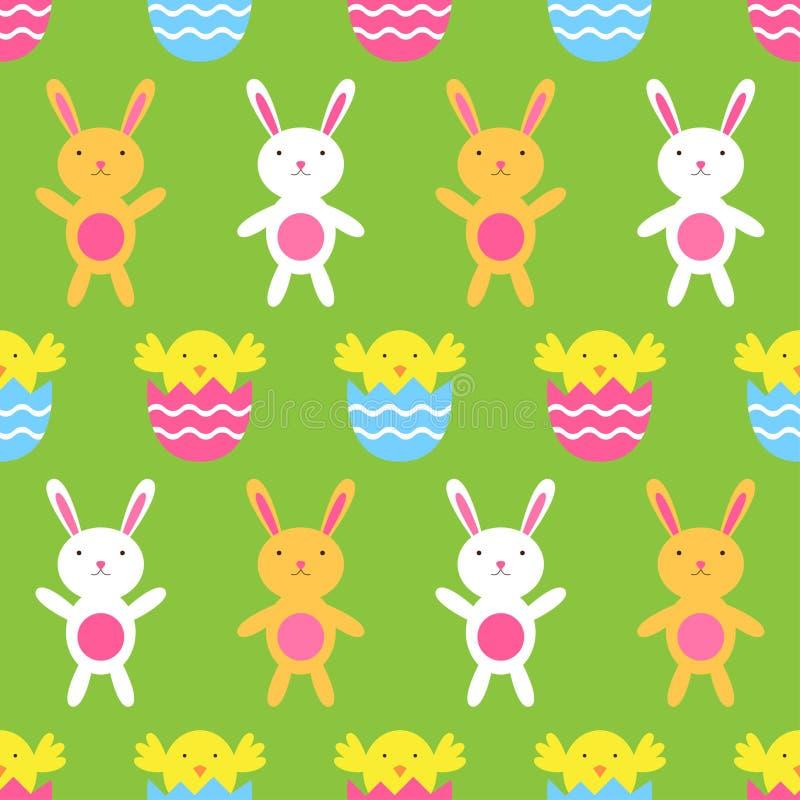 Teste padrão sem emenda de Easter ilustração do vetor