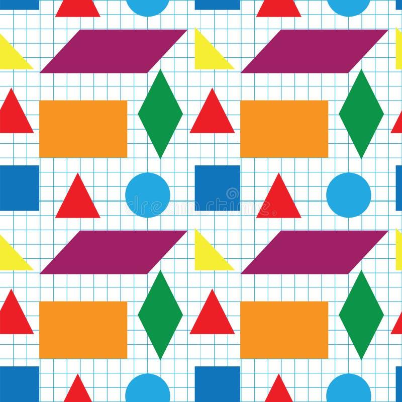 Teste padrão sem emenda de formas geométricas ilustração do vetor