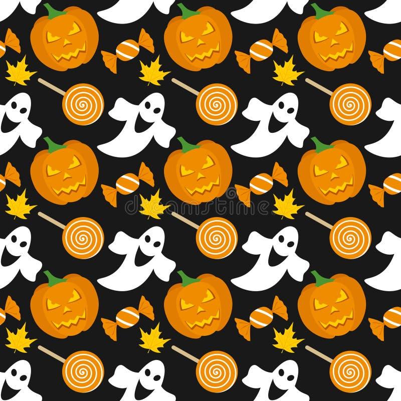 Teste padrão sem emenda de Halloween [1] ilustração do vetor