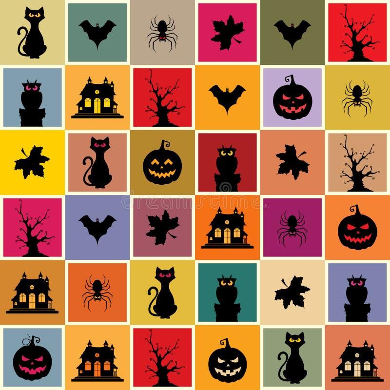 Teste padrão sem emenda de Halloween ilustração do vetor