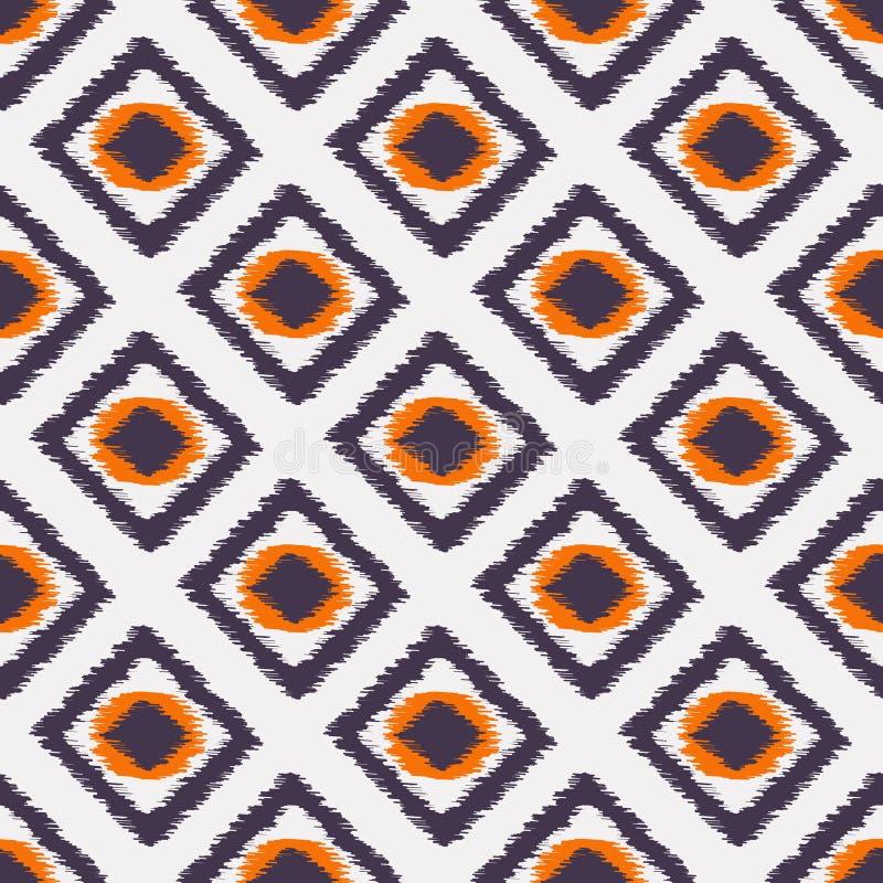 Teste padrão sem emenda de Ikat para o design web ou a decoração home ilustração stock