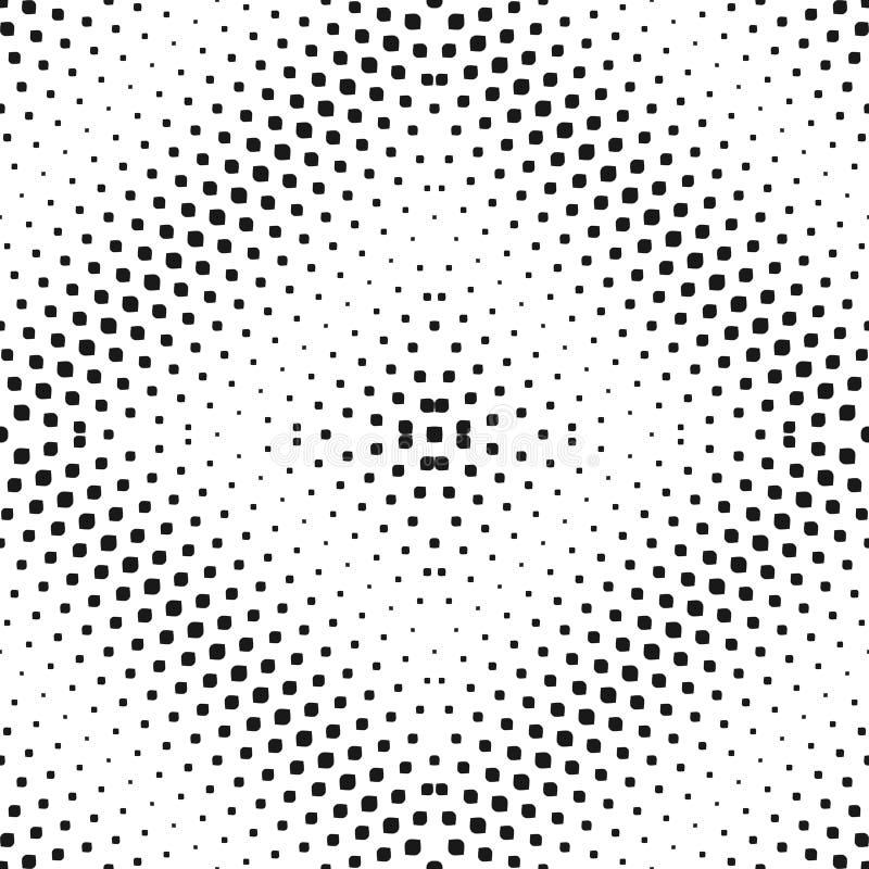 Teste padrão sem emenda de intervalo mínimo do vetor Inclinação preto & branco radial ilustração royalty free